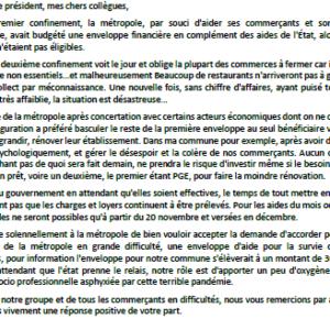 Texte de l'intervention d'Evelyne De Caro sur le plan de relance - Conseil métropolitain du 20/11/20