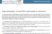 Communiqué de presse - Siège métropolitain : les élus MTPS veulent étudier les alternatives