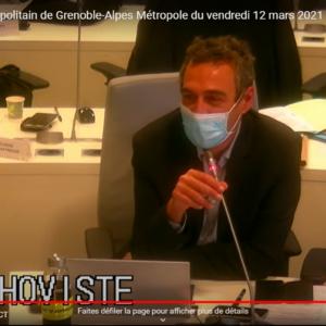 Vidéo de l'intervention de Laurent Thoviste sur la politique sportive de Grenoble Alpes Métropole lors du conseil métropolitain du 12 mars 2021