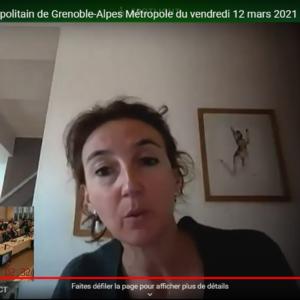 Vidéo de l'intervention de Sabine Leyraud sur la mise en oeuvre de la politique du logement d'abord lors du conseil métropolitain du 12 mars 2021
