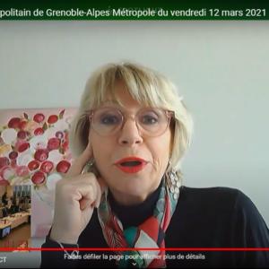 Vidéo de l'intervention de Joëlle Hours sur les travaux de rénovation de l'ESAD lors du conseil municipal du 12 mars 2021